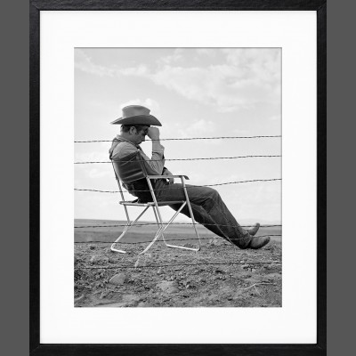 Frank Worth: James Dean Seated Behind Fence Set of Giant