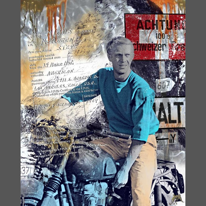 Devin Miles: American Hero 2 (Steve McQueen auf Motorrad)