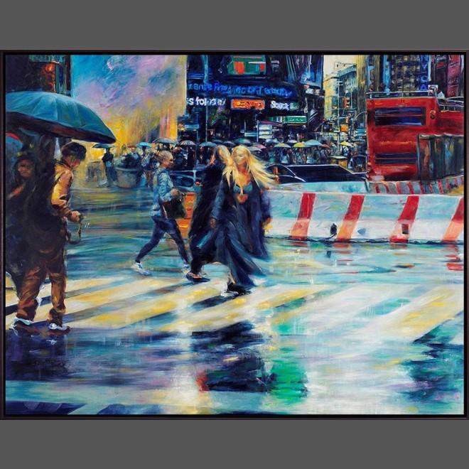 Gemälde mit Schattenfugenrahmen