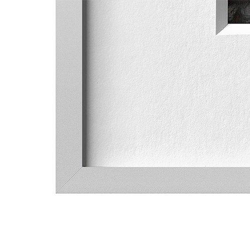 Alurahmen silbermatt | 80 x 80 cm