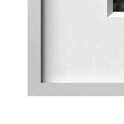 Alurahmen silbermatt   90 x 105 cm