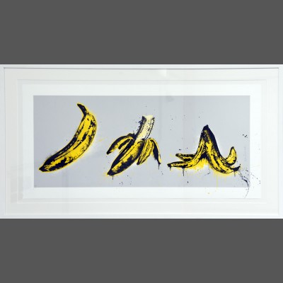 Mr. Brainwash: Banana Split (grau)