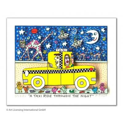 James Rizzi: A Taxi Ride Through The Night