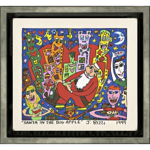 James Rizzi: Santa In The Big Apple