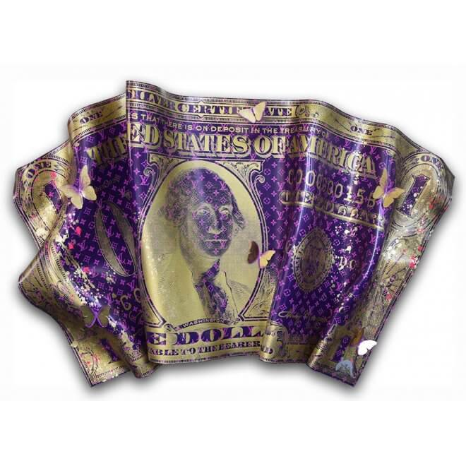 Devin Miles: One Dollar Louis Vuitton purple