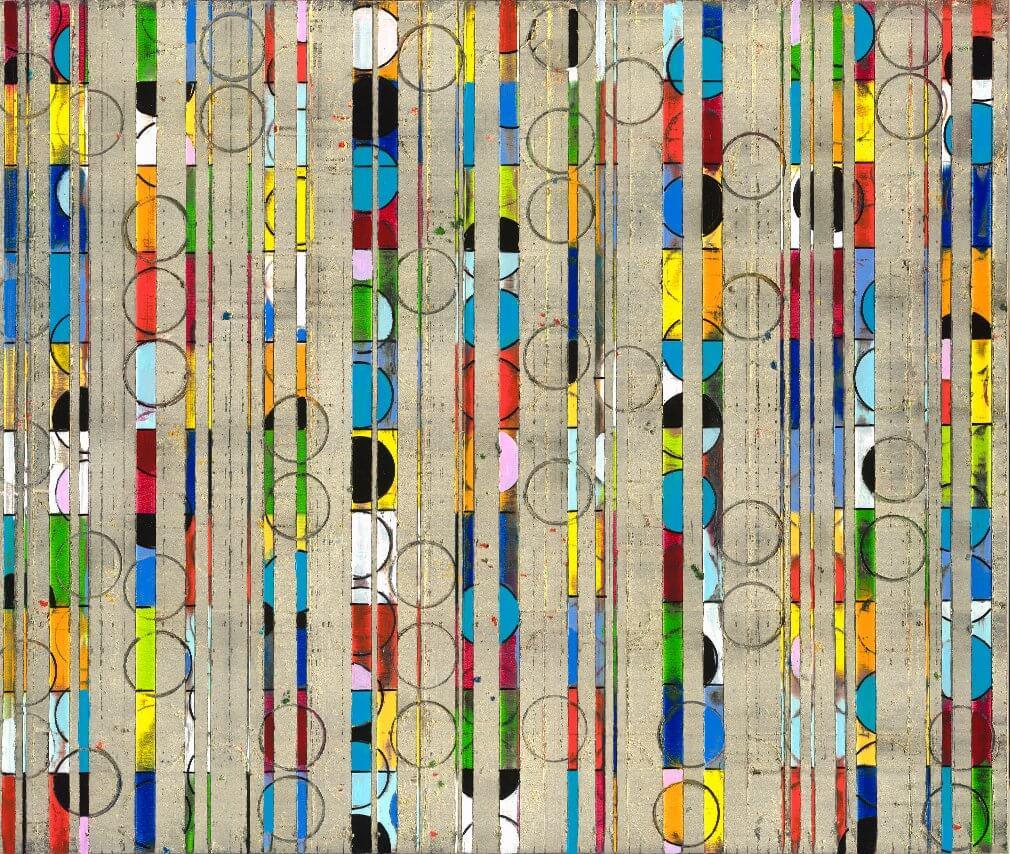 Petra Rös-Nickel: Colour Stripes Circle