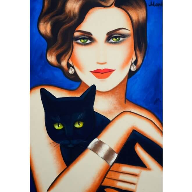 Ekaterina Moré: Girl with a black cat