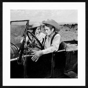 Frank Worth: James Dean Liz Taylor in Car