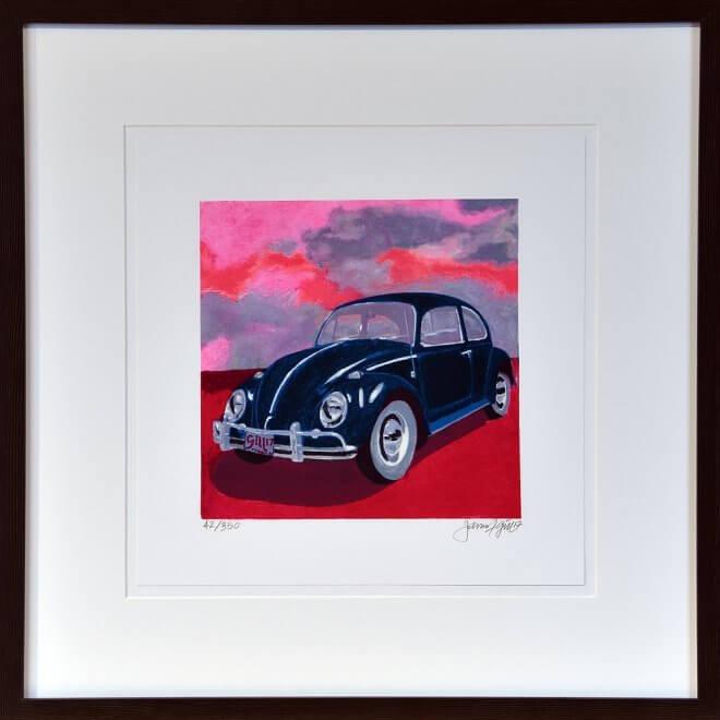 James Francis Gill: Mini Bug-Pink Sky