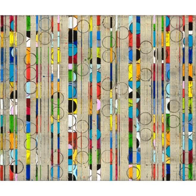 Petra Roes-Nickel: Colour Stripes Circle