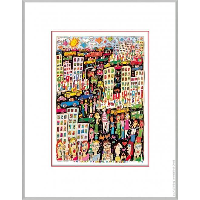 James Rizzi:In a trance of a colorful glance by chance