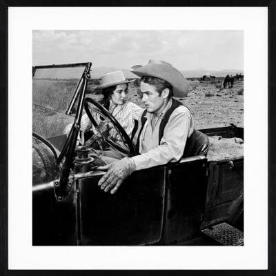 Frank Worth: James Dean Liz Taylor in Car