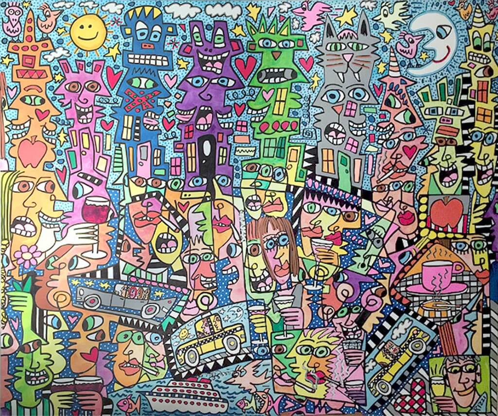 James Rizzi: Summer of Love in my City