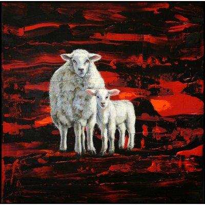 Jean-Pierre Kunkel: Schaf und Lamm stehend