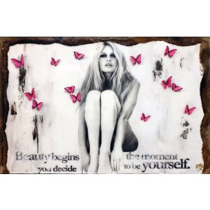 Devin Miles: Butterflies 2 Rosa - Unikatserie