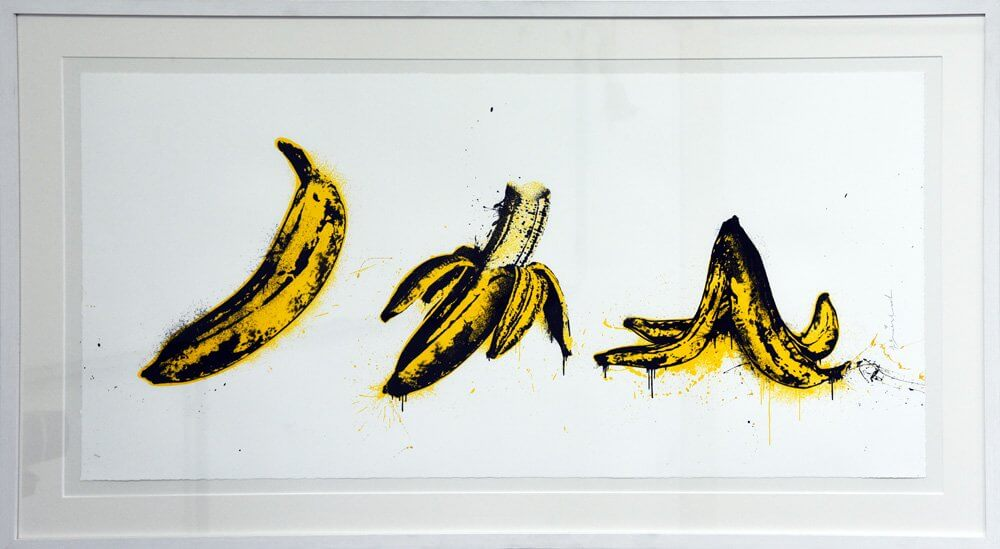 Mr. Brainwash: Banana Split (weiss)