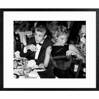 Frank Worth: James Dean Ursula Andress at Oscar Dinner 1955