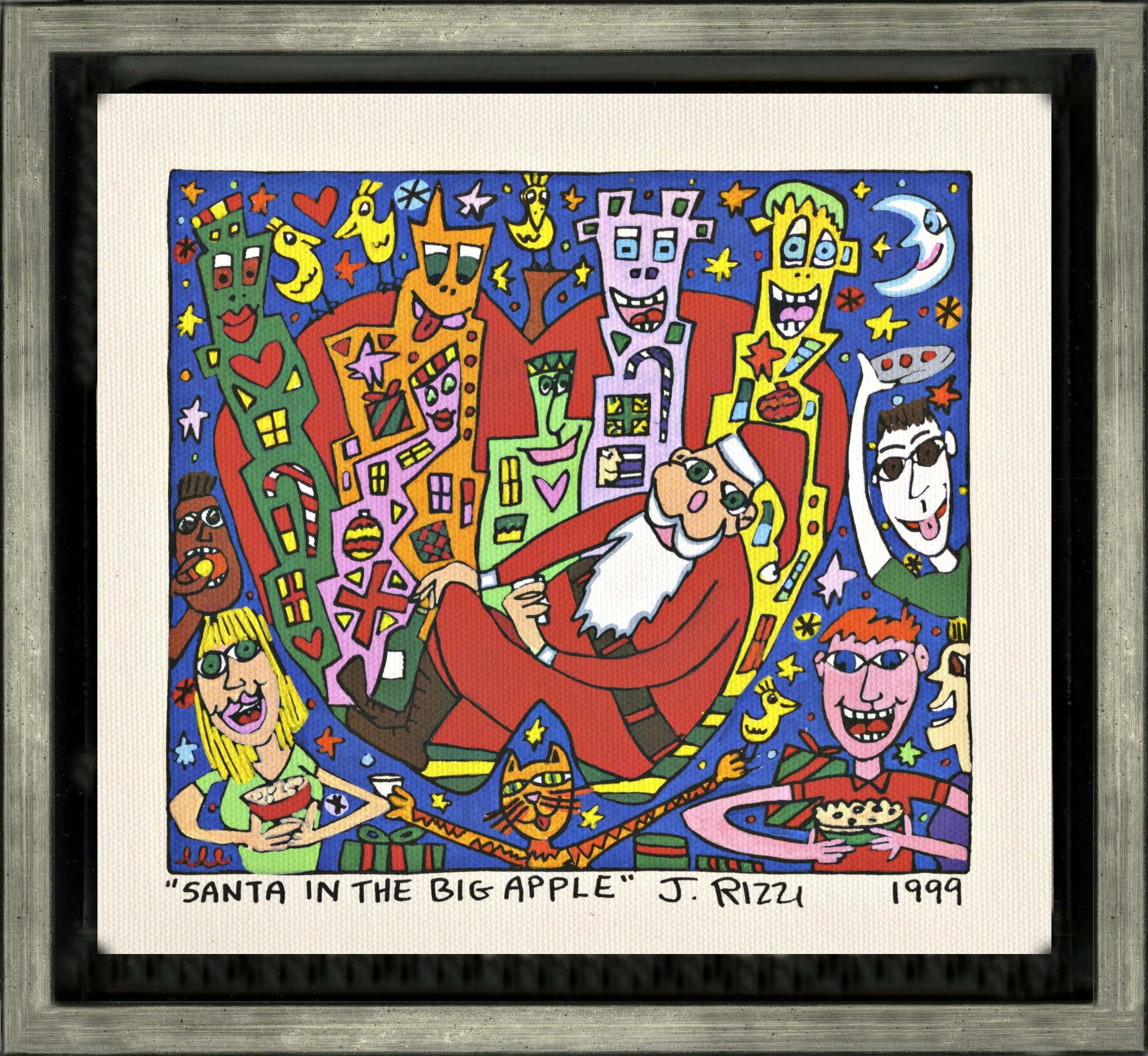 James Rizzi: Santa In The Big Apple