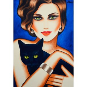 Ekaterina Moré: Girl with a black cat