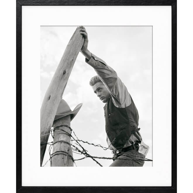 Frank Worth: James Dean on fence Post