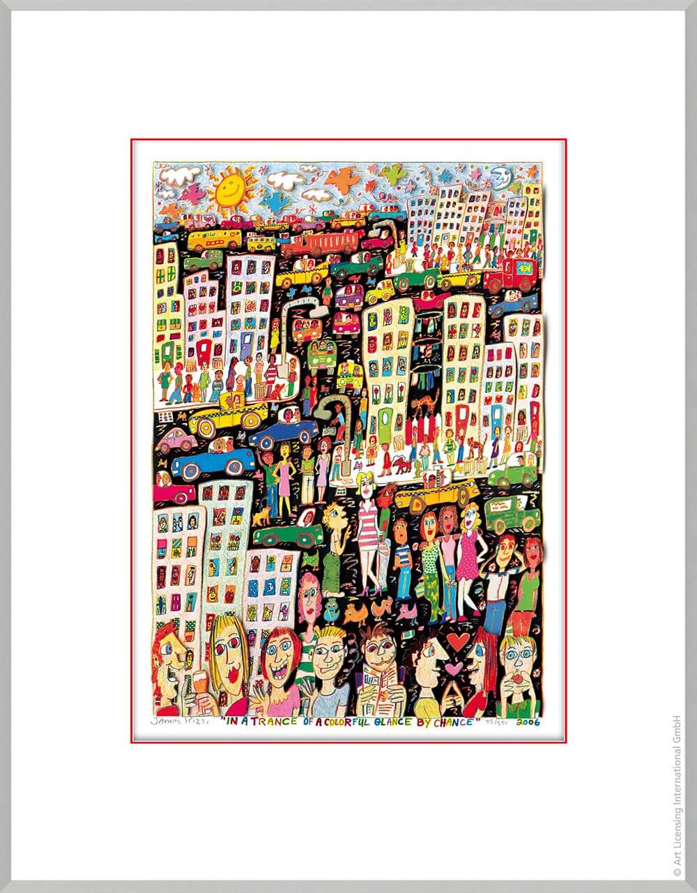 James Rizzi: In A Trance Of A Colorful Glance By Chance