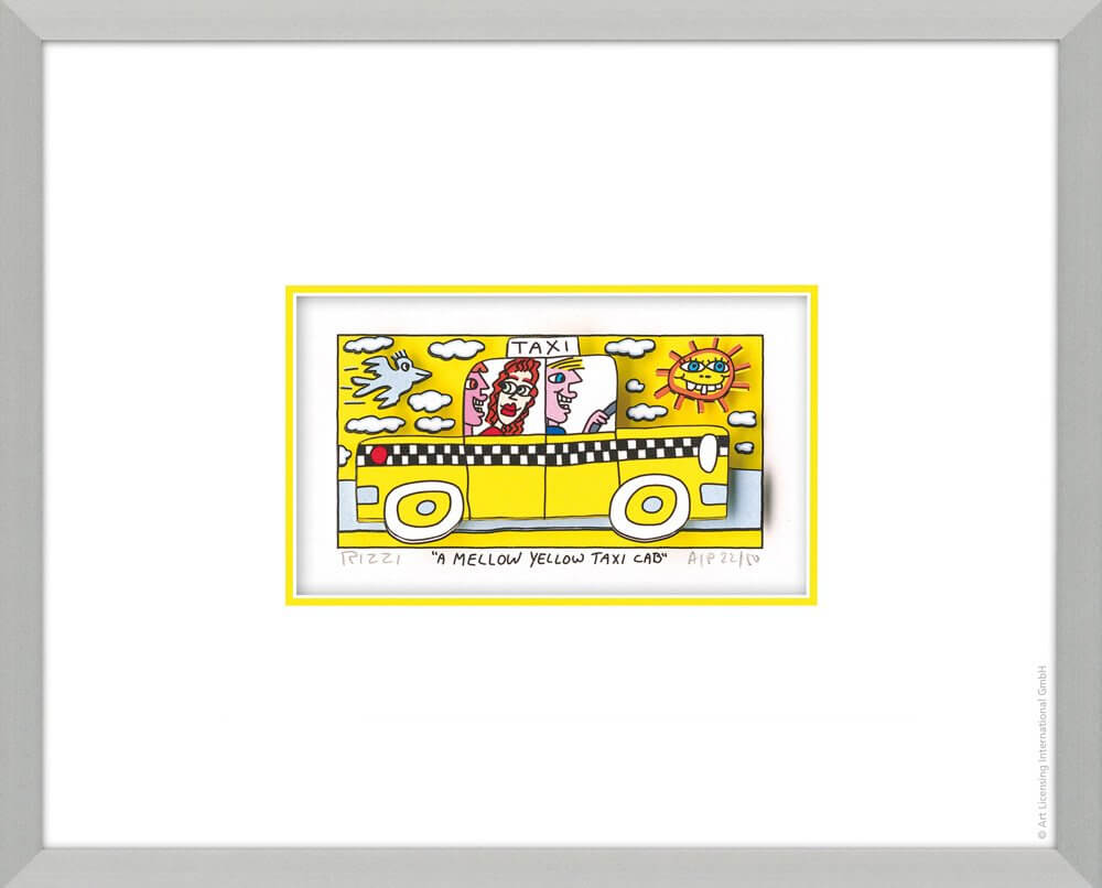 James Rizzi: A Mellow Yellow Taxi Cab
