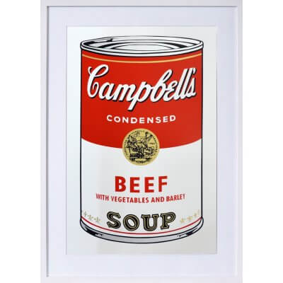 Andy Warhol: Campbells Beef Soup