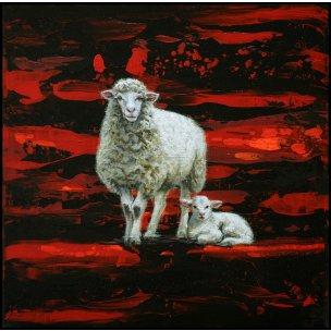 Jean-Pierre Kunkel: Schaf und liegendes Lamm