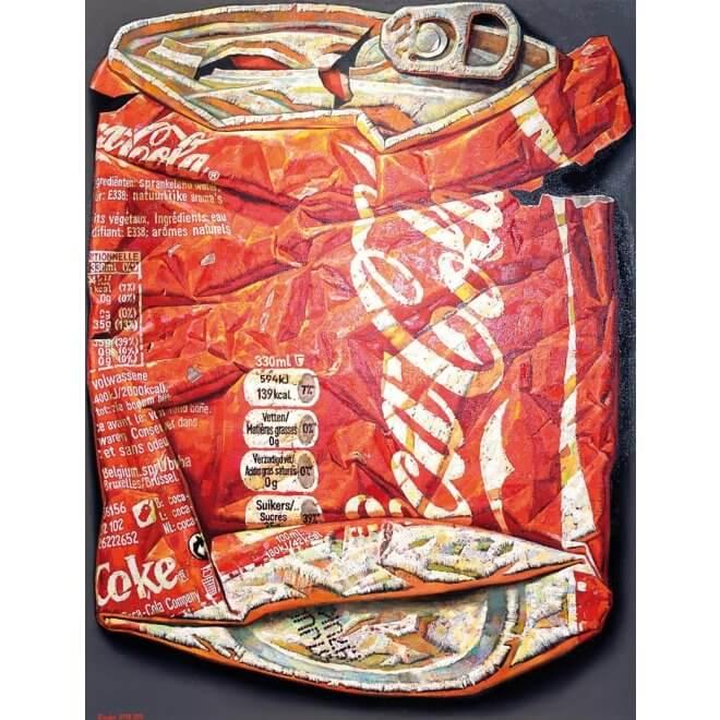 Ölgemälde Belgian Coke (belgische Cola-Dose) auf Leinwand
