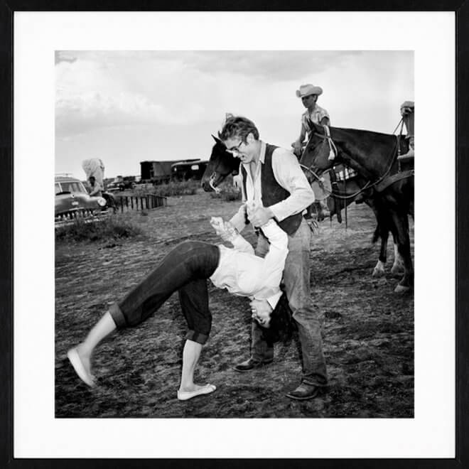 Frank Worth: Elisabeth Taylor Flips for James Dean on Set of Giant