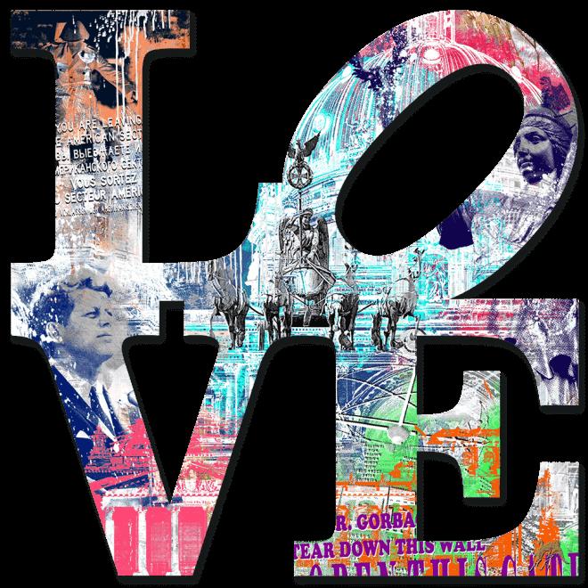 Love - Berlin, Kunstwerk aus Alu, Handarbeit